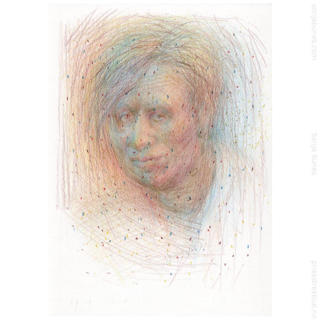A4folk. Sonja Bunes. Virus. Fargeblyanter på papir. 2020.