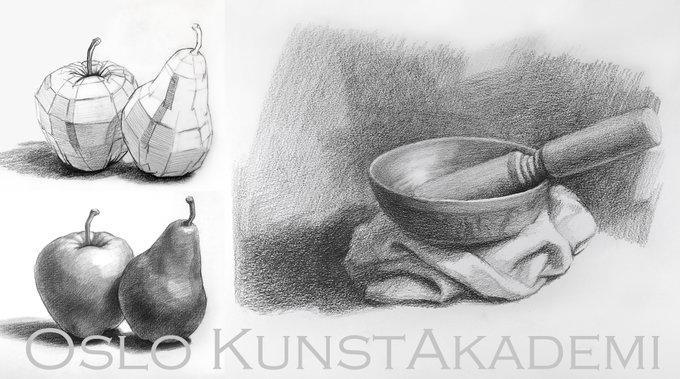 Tegnekurs ved Oslo Kunstakademi. Tegning: Frode Lillesund.