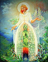 The Bride Sonja Bunes 1999 oil painting symbolism